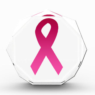 Breast cancer awareness pink ribbon award