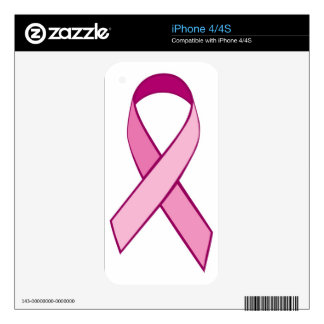 Breast Cancer Awareness - Pink Ribbon Decal For iPhone 4