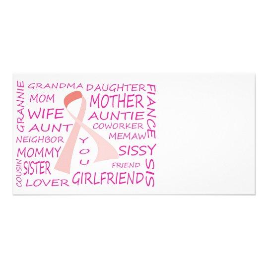 BREAST CANCER AWARENESS PINK RIBBON DESIGN CARD