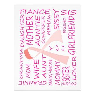 BREAST CANCER AWARENESS PINK RIBBON DESIGN FLYER