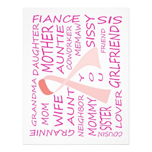 Breast Cancer Awareness Pink Ribbon Design Personalized Flyer