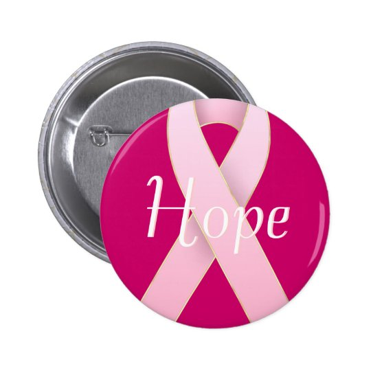 Breast Cancer Awareness Pink Ribbon Designs Button