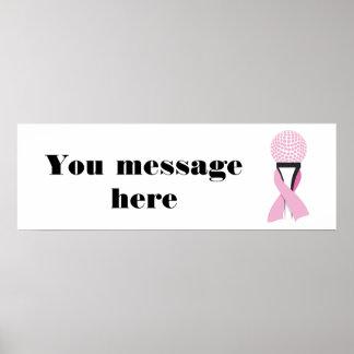Breast Cancer Awareness Pink Ribbon Golf Ball Poster