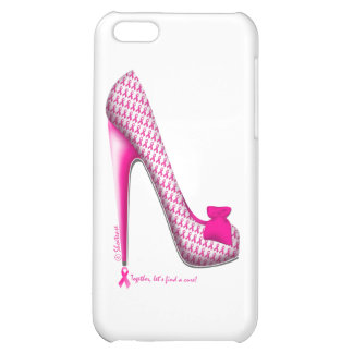 Breast Cancer Awareness Pink Ribbon Heel Cover For iPhone 5C
