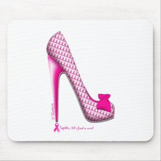Breast Cancer Awareness Pink Ribbon Heel Mouse Pad