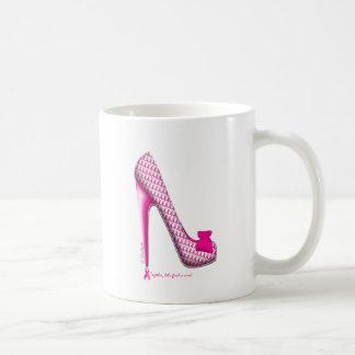 Breast Cancer Awareness Pink Ribbon Heel Coffee Mugs