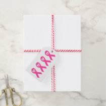 Breast Cancer Awareness Pink Ribbon HOPE design Gift Tags