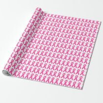 Breast Cancer Awareness pink ribbon HOPE design. Wrapping Paper
