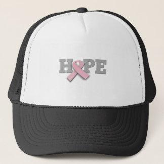 Breast Cancer Awareness - Pink Ribbon Hope Trucker Hat