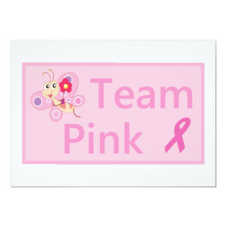 Breast Cancer Awareness pink ribbon invites