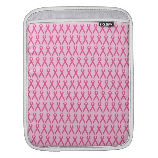 Breast Cancer Awareness Pink Ribbon Sleeve For iPads
