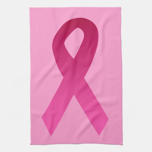 Breast cancer awareness pink ribbon kitchen towels