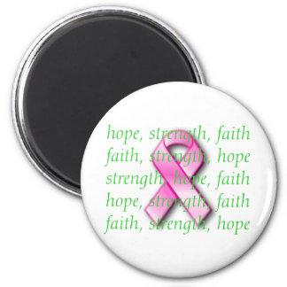 Breast Cancer Awareness Pink Ribbon Magnet
