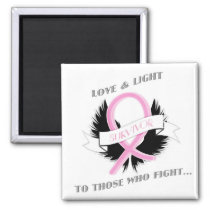 Breast Cancer Awareness Pink Ribbon Magnet Women