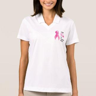 Breast Cancer Awareness. Pink Ribbon Polo Shirt