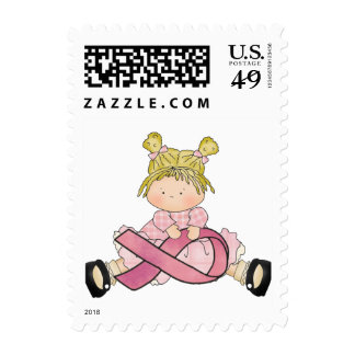 Breast Cancer awareness Pink Ribbon Postage stamps