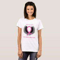 Breast Cancer Awareness Pink Ribbon Shirt Womens