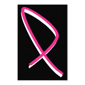 Breast Cancer Awareness Pink Ribbon Stationery
