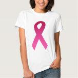 Breast cancer awareness pink ribbon tee shirt