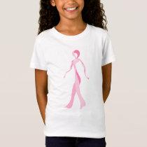 Breast Cancer Awareness Pink Ribbon Walker T-shirt
