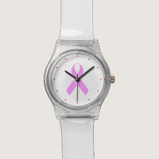 Breast Cancer Awareness Pink Ribbon Wrist Watch