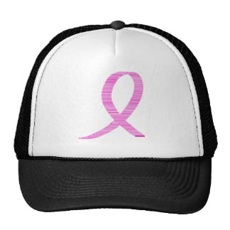 Breast Cancer Awareness Pinkt Ribbon Mesh Hat