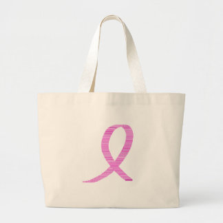Breast Cancer Awareness Pinkt Ribbon Tote Bags