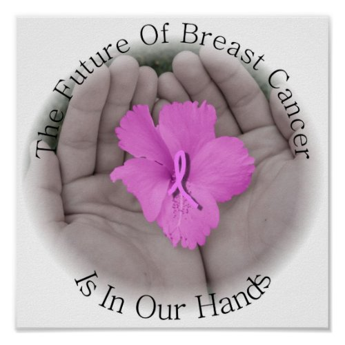 Breast Cancer Awareness Poster zazzle_print