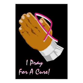 Breast Cancer Awareness Praying Hands Poster