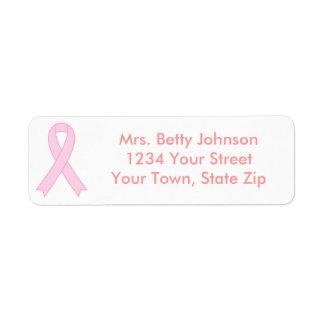 Breast Cancer Awareness Return Address Labels