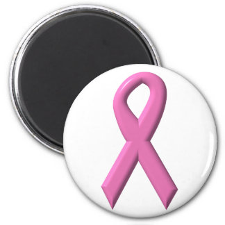 Breast Cancer Awareness Ribbon 2 Inch Round Magnet