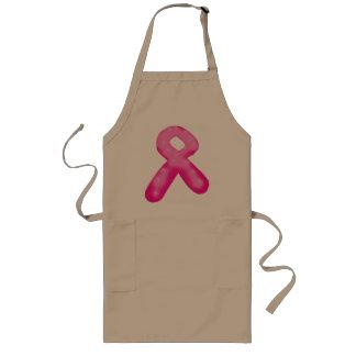 Breast Cancer Awareness Ribbon Candle Long Apron