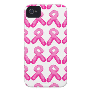 Breast Cancer Awareness Ribbon Candle Pattern iPhone 4 Case