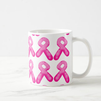 Breast Cancer Awareness Ribbon Candle Pattern Coffee Mug
