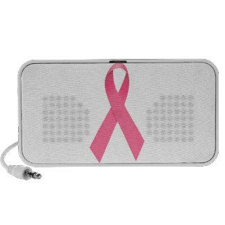 Breast Cancer Awareness Ribbon Doodle Notebook Speaker