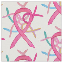 Breast Cancer Awareness Ribbon Fabric Material
