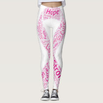 Breast Cancer Awareness Ribbon Leggings