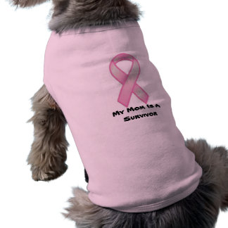 breast-cancer-awareness-ribbon, My Mom Is A Sur... Dog Tee Shirt