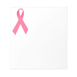 Breast Cancer Awareness Ribbon Notepad