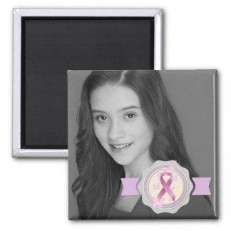 Breast Cancer Awareness Ribbon Photo Keepsake Magnet