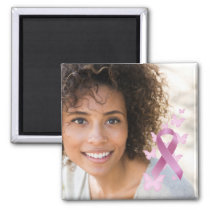 Breast Cancer Awareness Ribbon Photo Keepsake Magnet