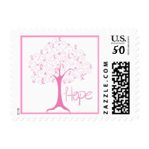 Breast Cancer Awareness Ribbon Tree Hope Postage