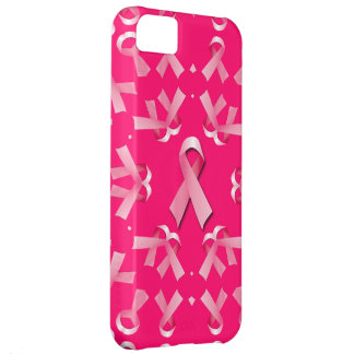Breast Cancer Awareness Ribbons Collage Cover For iPhone 5C