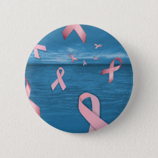 Breast Cancer Awareness Ribbons in the Sky Button