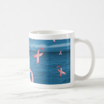 Breast Cancer Awareness Ribbons in the Sky Coffee Mug