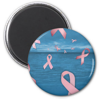 Breast Cancer Awareness Ribbons in the Sky Refrigerator Magnets