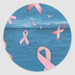 Breast Cancer Awareness Ribbons in the Sky Sticker
