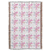 Breast Cancer Awareness Ribbons Throw Blanket
