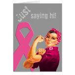 Breast Cancer Awareness Rosie the Riveter Card