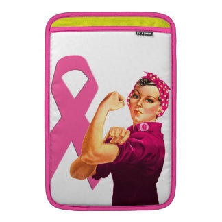 Breast Cancer Awareness Rosie the Riveter Sleeve For MacBook Air